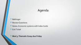 Economic Systems and Theorists