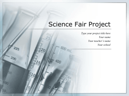 Science Fair Project - Discovery School of Tulsa