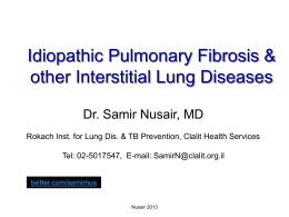 Idiopathic Pulmonary Fibrosis & other Interstitial Lung