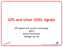 GPS and other GNSS signals