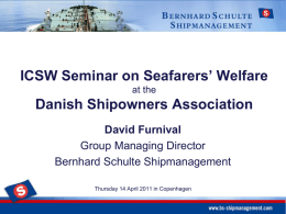 ICSW Seminar on Seafarers' Welfare at the Danish