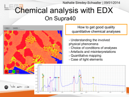Chemical analysis by EDX