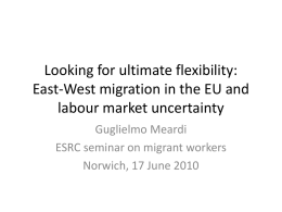 East-West migration in the EU: Towards what kind of labour