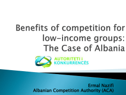 Benefits of competition for low-income groups: The
