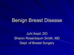 Benign Breast Disease - Mount Sinai St. Luke's Roosevelt