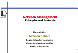 Network Management Principles and Protocols