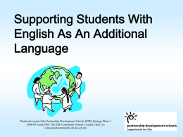 Teaching EAL students