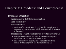 Chapter 3: Broadcast and Convergecast