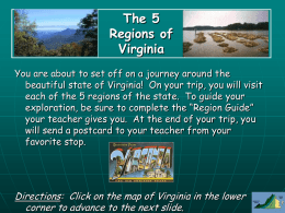 The 5 Regions of Virginia a virtual field trip