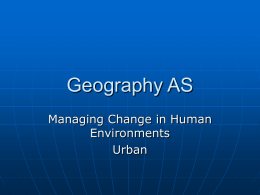 Geography AS - Climate, Environment and People