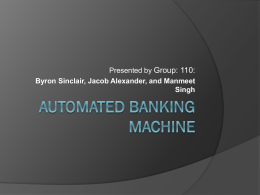 Automated banking machine - University of Ontario