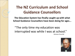 The NZ Curriculum and School Guidance Counsellors