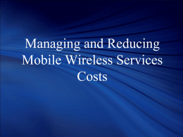 Cost Analysis for Cellular/Wireless Service
