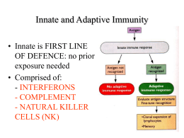 Innate and Adaptive Immunity - Molecular and Cell Biology
