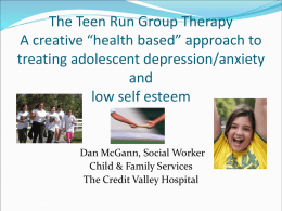 Child & Family Teen Run Group Therapy Program