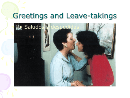 Greetings and Leave-takings