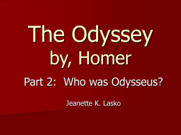 The Odyssey by, Homer