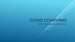 Cloud Computing - Western Washington University