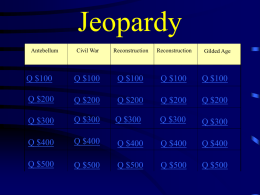US History Midterm EOC Jeopardy Review