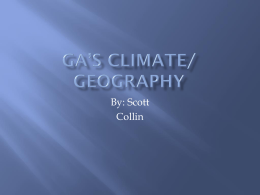 GA's Climate/ Geography