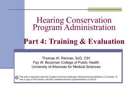 Hearing Conservation Program Administration