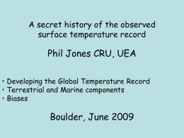 The Surface Temperature Record