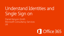 Identity Management for Office 365