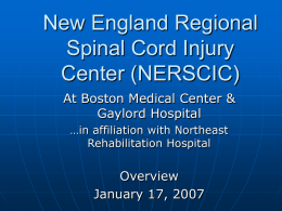 New England Regional Spinal Cord Injury Center