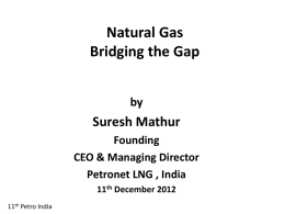 Role of Natural Gas in India's Energy Security