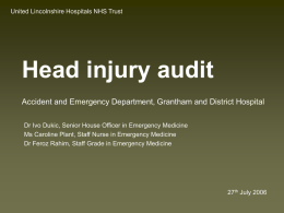 Head injury audit - clinicalaudit.org