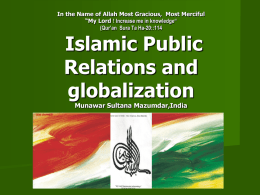 Islamic Public Relations and globalization