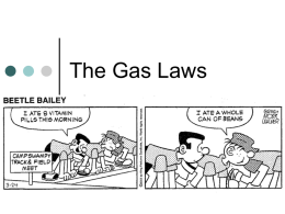 The Gas Laws - Dallas School District