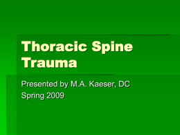 Thoracic Spine Trauma - Logan Class of December 2011