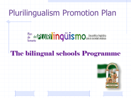 Plurilingualism Promotion Plan