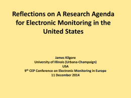 Reflections on A Research Agenda for Electronic Monitoring