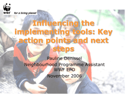 Influencing the implementing tools: Key action points and