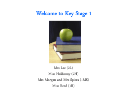 Welcome to Key Stage 1