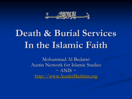 Death & Burial Services In the Islamic Faith