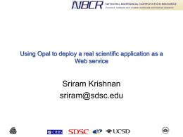 Using Opal to deploy a real scientific application as a