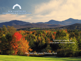 Achieving impact - NH Charitable Foundation