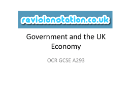 Government and the UK Economy