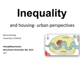 Inequality - University of Manchester