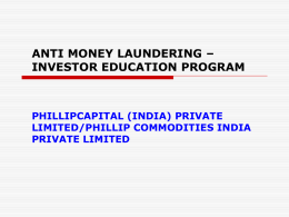 Anti Money Laundering-Stock Brokers Compliance Issues