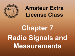 Amateur Extra License Class - Wabash Valley Amateur Radio Asso