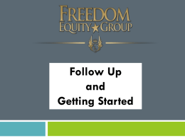 Freedom Equity Group Fast Start