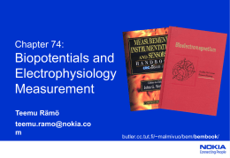 Chapter 74: Biopotentials and Electrophysiology Measurement