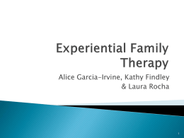 Experiential Family Therapy - California State University