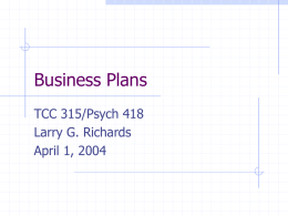Business Plans - University of Virginia