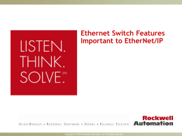 EtherNet/IP Switch Features