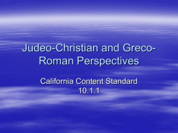 Judeo-Christian and Greco